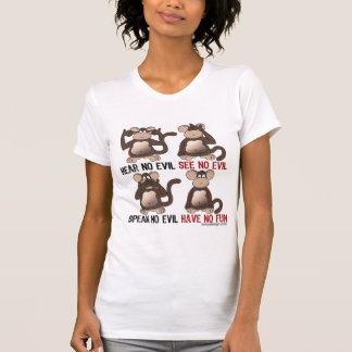 Wise Monkeys Humour Tees