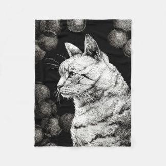 Wise Old Cat Fleece Blanket