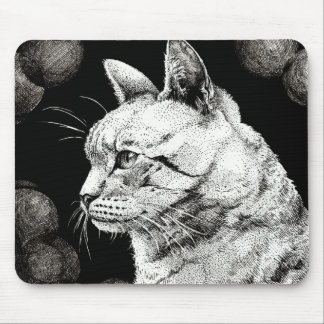 Wise Old Cat Mousepad