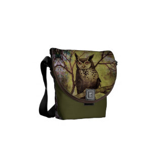 Wise Old Owl Messenger Bags