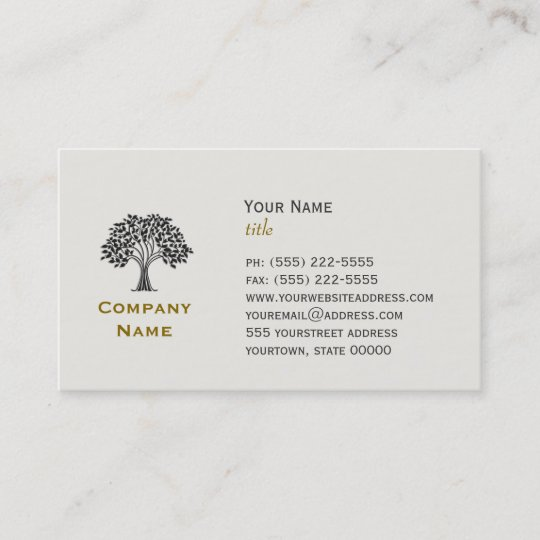 Wise old tree business card zazzle wise old tree business card colourmoves