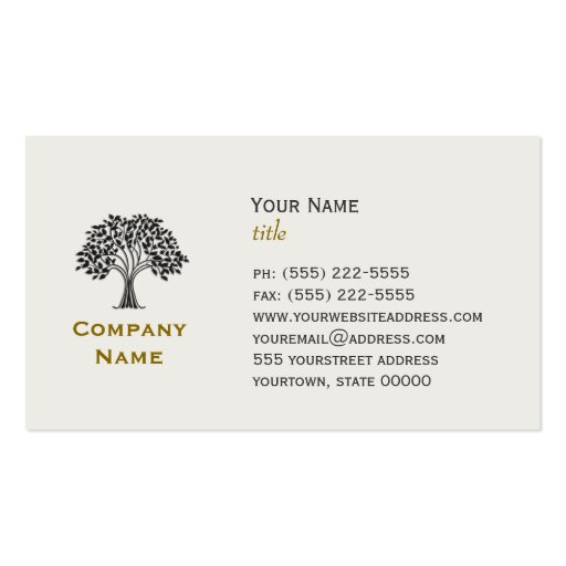 Wise Old Tree Business Card