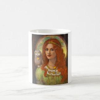 Wise Ones- Celtic Owl and Lady Coffee Mug