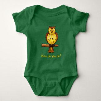 Wise owl   Adorable Baby Bodysuit
