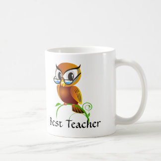 Wise Owl Best Teacher Basic White Mug