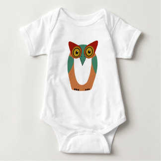 Wise Owl Cartoon Baby Bodysuit
