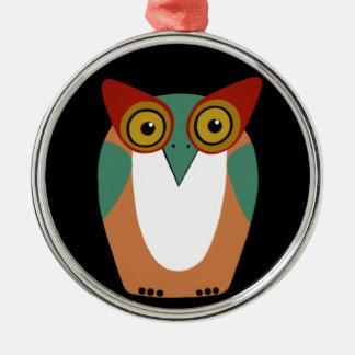 Wise Owl Cartoon Christmas Ornament