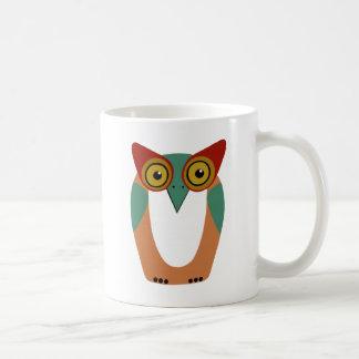 Wise Owl Cartoon Coffee Mug