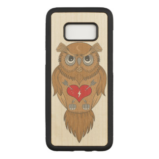Wise Owl Carved Samsung Galaxy S8 Case
