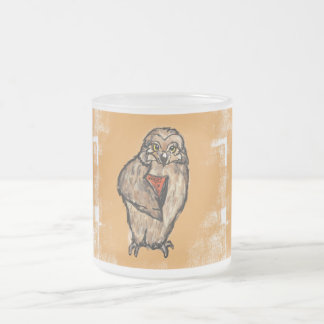 Wise Owl Frosted Glass Coffee Mug