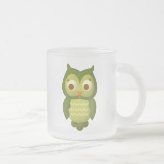 Wise Owl Frosted Glass Mug