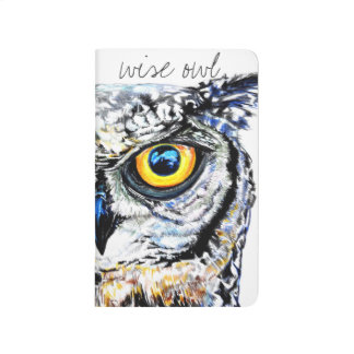 Wise owl illustration journal