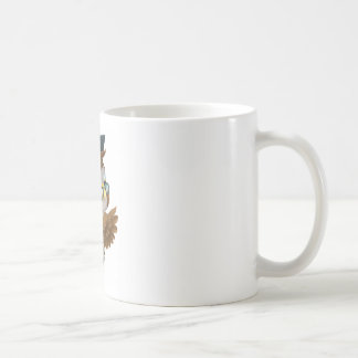 Wise Owl Pointing Sign Coffee Mug