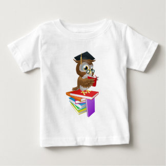 Wise owl reading baby T-Shirt