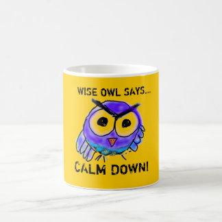 Wise Owl Says...Calm Down! Coffee Mug