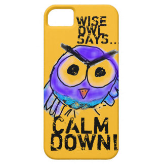 Wise Owl Says... Calm Down! iPhone 5 Case