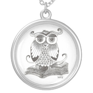 Wise OWL Silver Plated Necklace