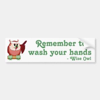 Wise Owl Speaks Bumper Sticker