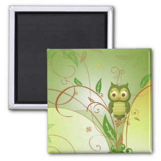 Wise Owl Square Magnet