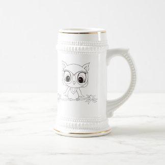 Wise Owl Stein Mug