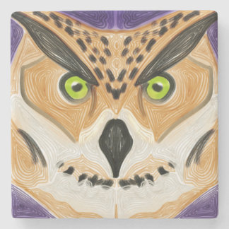 Wise Owl Stone Coaster