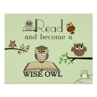 Wise Owls Literacy Poster
