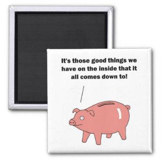 Wise Piggy Bank Refrigerator Magnet