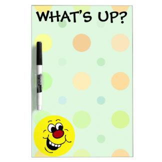 Wise Smiley Face Grumpey Dry Erase Board
