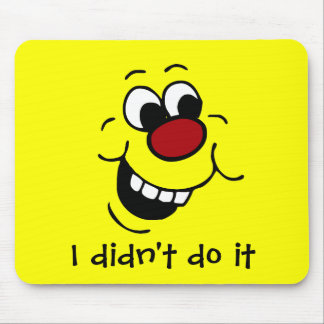 Wise Smiley Face Grumpey Mouse Pad