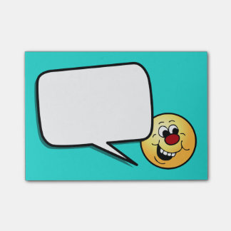 Wise Smiley Face Grumpey Post-it Notes
