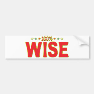 Wise Star Tag Bumper Stickers