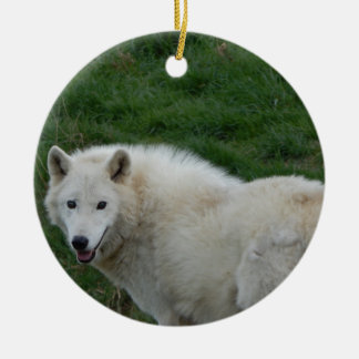 wise wolf christmas ornament