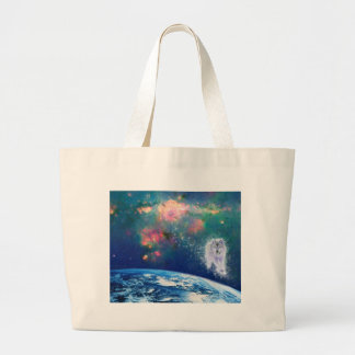Wise Wolf Large Tote Bag