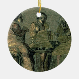 Wise woman and her patients, from the Villa Cicero Christmas Ornament