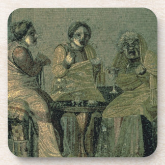 Wise woman and her patients, from the Villa Cicero Drink Coaster