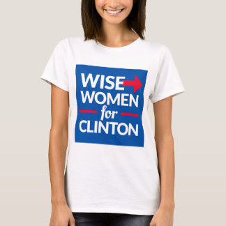 WISE WOMEN FOR CLINTON Square Logo Tee (with back)