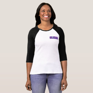 Wise Women's Purple Logo Raglan Tee