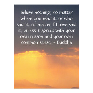Wise Words of Wisdom from the Buddha quote 21.5 Cm X 28 Cm Flyer