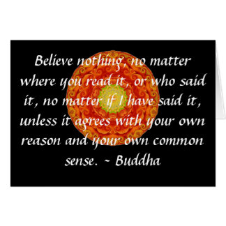 Wise Words of Wisdom from the Buddha quote Greeting Card