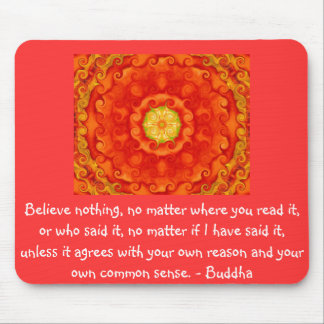 Wise Words of Wisdom from the Buddha quote Mouse Mat