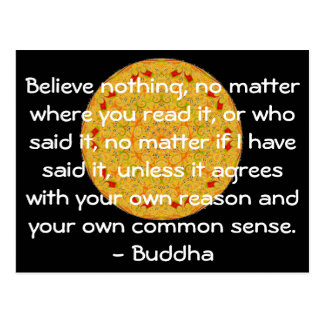 Wise Words of Wisdom from the Buddha quote Postcard
