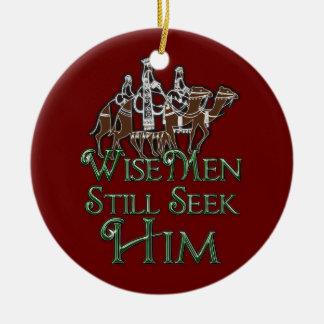 WiseMen Still Seek Him Round Ceramic Decoration