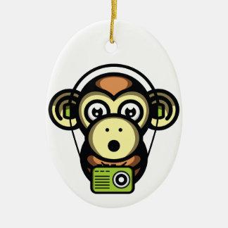 Wiser Apes Ceramic Oval Decoration