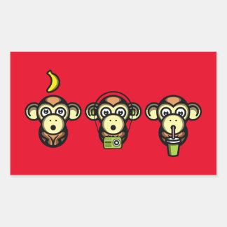 Wiser Apes Rectangular Sticker