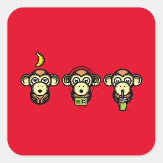 Wiser Apes Square Sticker