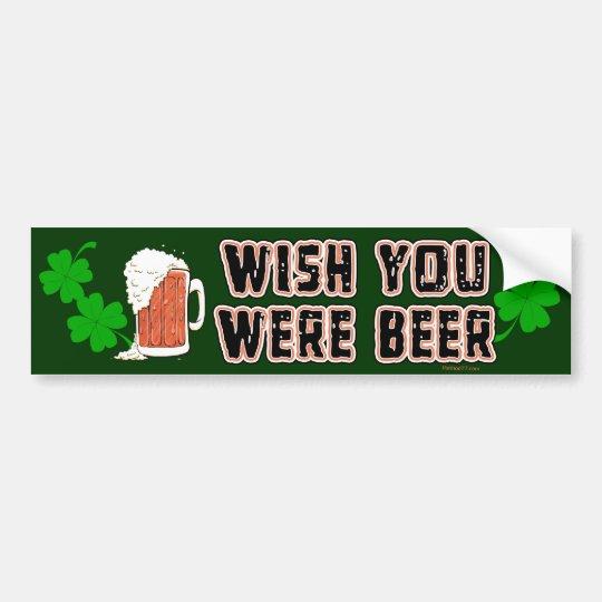 Wish Beer Irish Bumper Sticker