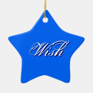 Wish - Blue Ceramic Star Decoration
