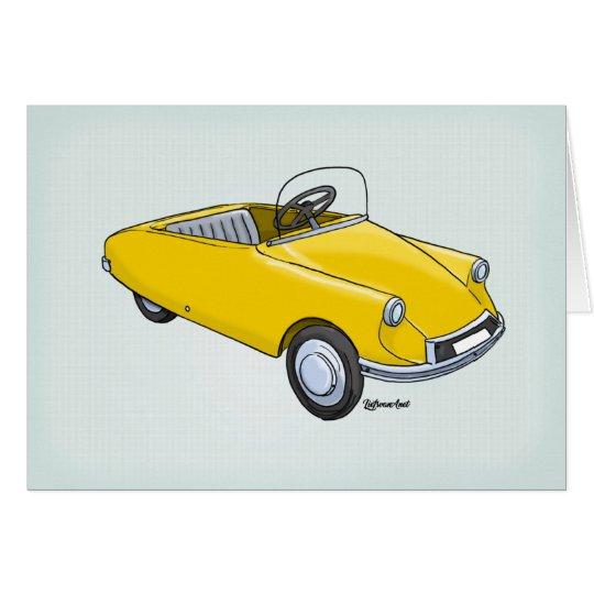 wish card Citroën D yellow