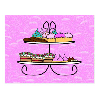 wish card - party Girls - high Tea - cup cakes