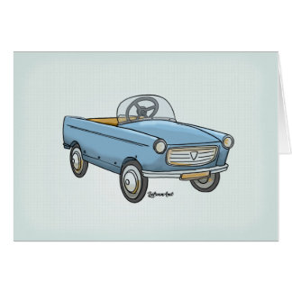 wish card pretty Peugeot 404 vintage